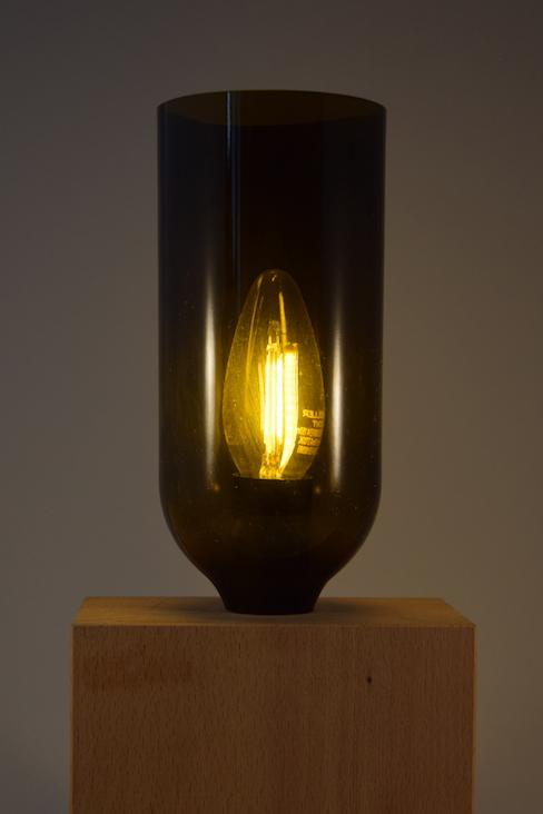 Weinlampe in Betrieb